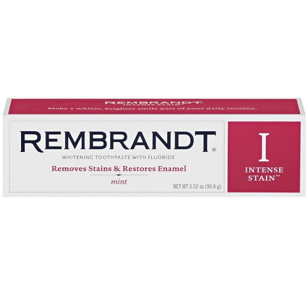 Rembrandt Whitening Toothpaste Intense Stain 3 oz (Pack of 12)