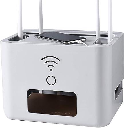 XUE-Y Rutina de Almacenamiento Estante de Pared Juego de WiFi Estante Cajas Superiores para Colgar Cable de alimentación Caja de Acabado para zócalo Caja de Almacenamiento: Amazon.es: Hogar