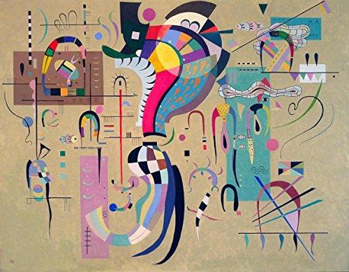Meio Acompanhado - Wassily Kandinsky   Tela Grande Para Quadro