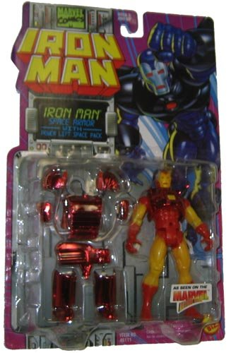 Marvel Comics 1995 Iron Man 5 Inch Action Figure - Iron Man SPACE ARMOR with Power Lift Space Pack