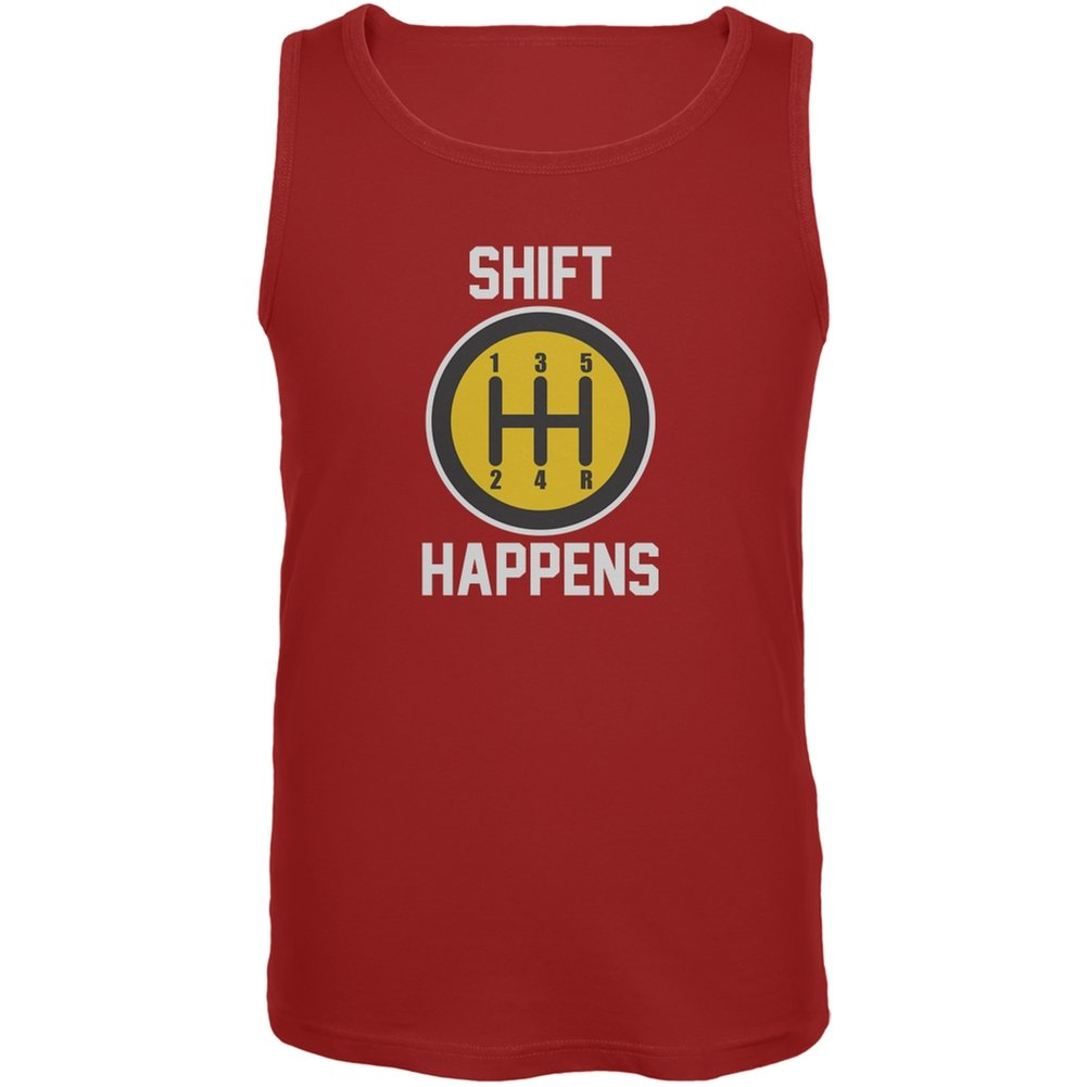 Old Glory Shift Happens Red Adult Tank Top