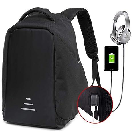 lingvi Antirrobo Mochila Impermeable USB Mochila de Seguridad Mochila para ordenado Portátil 15.6 Pulgadas para de