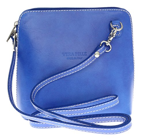 Royal Véritable Sac Rigide D'épaule Réel Handbags Bleu Girly Cuir Italienne Bandouliere TqHZ6