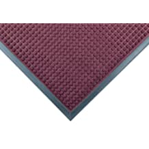 """Notrax 166 Guzzler Entrance Mat, for Lobbies and Entranceways, 2' Width x 3' Length x 1/4"""" Thickness, Burgundy"""