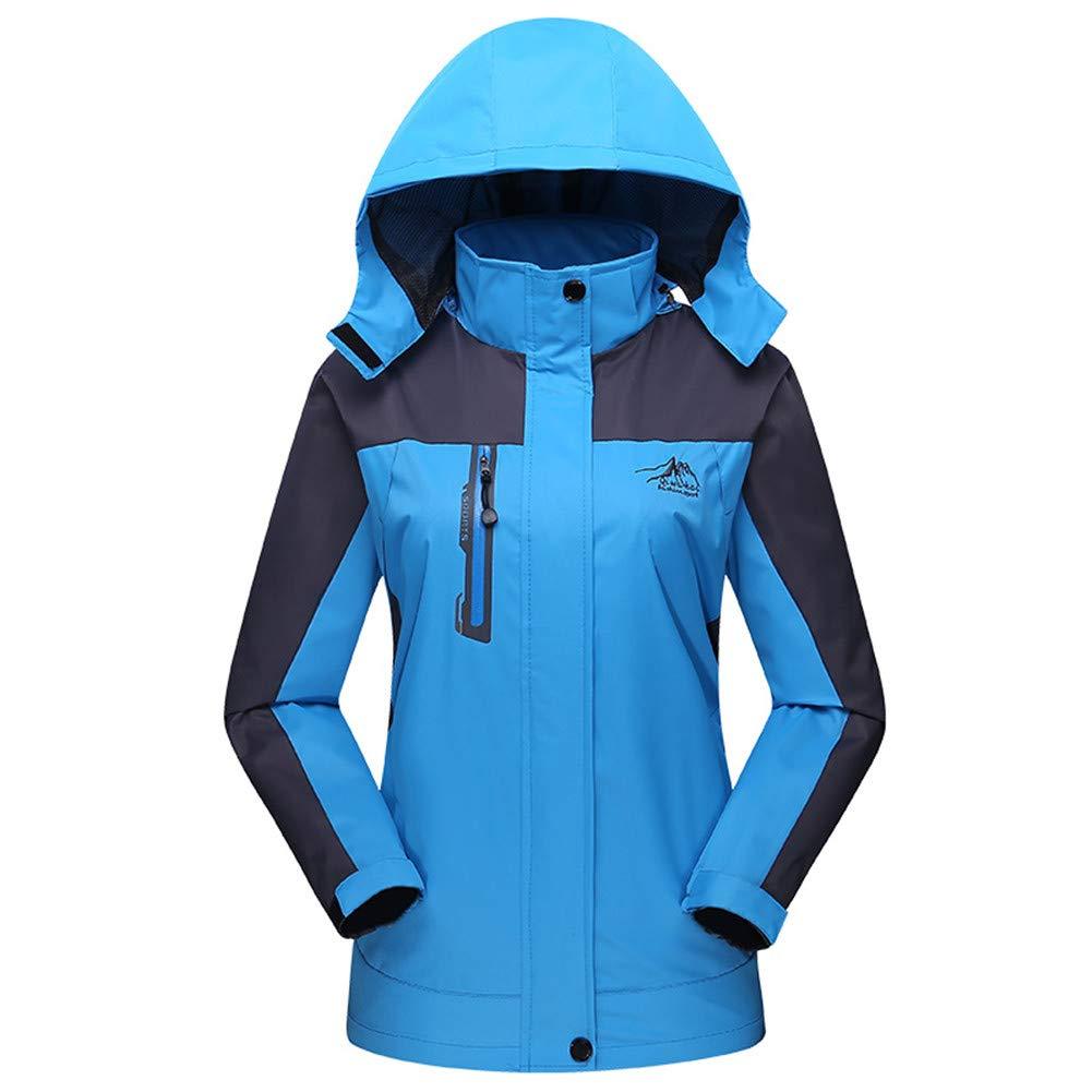 DoMii Women's Mountain Waterproof Ski Jacket Windproof Outdoor Hooded Rain Coat