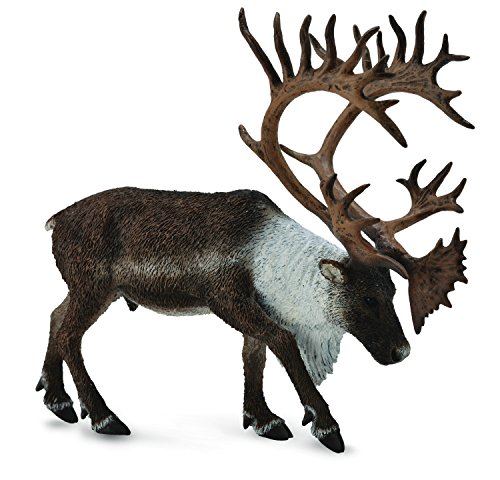 (CollectA Woodlands Caribou Toy Figure - Authentic Hand Painted Model)