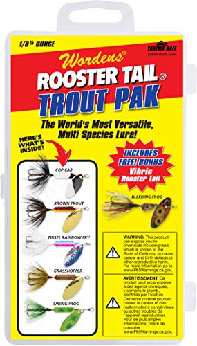 (Yakima Bait Rooster Tail 1/8oz Box Kits- Trout Mix)
