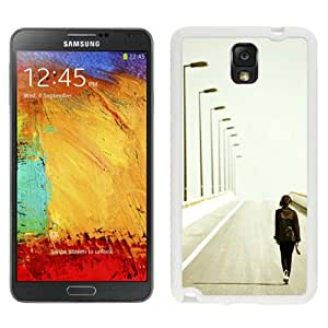 New Beautiful Custom Designed Cover Case For Samsung Galaxy Note 3 N900A N900V N900P N900T With Lonely Walking Long Road Art (2) Phone Case