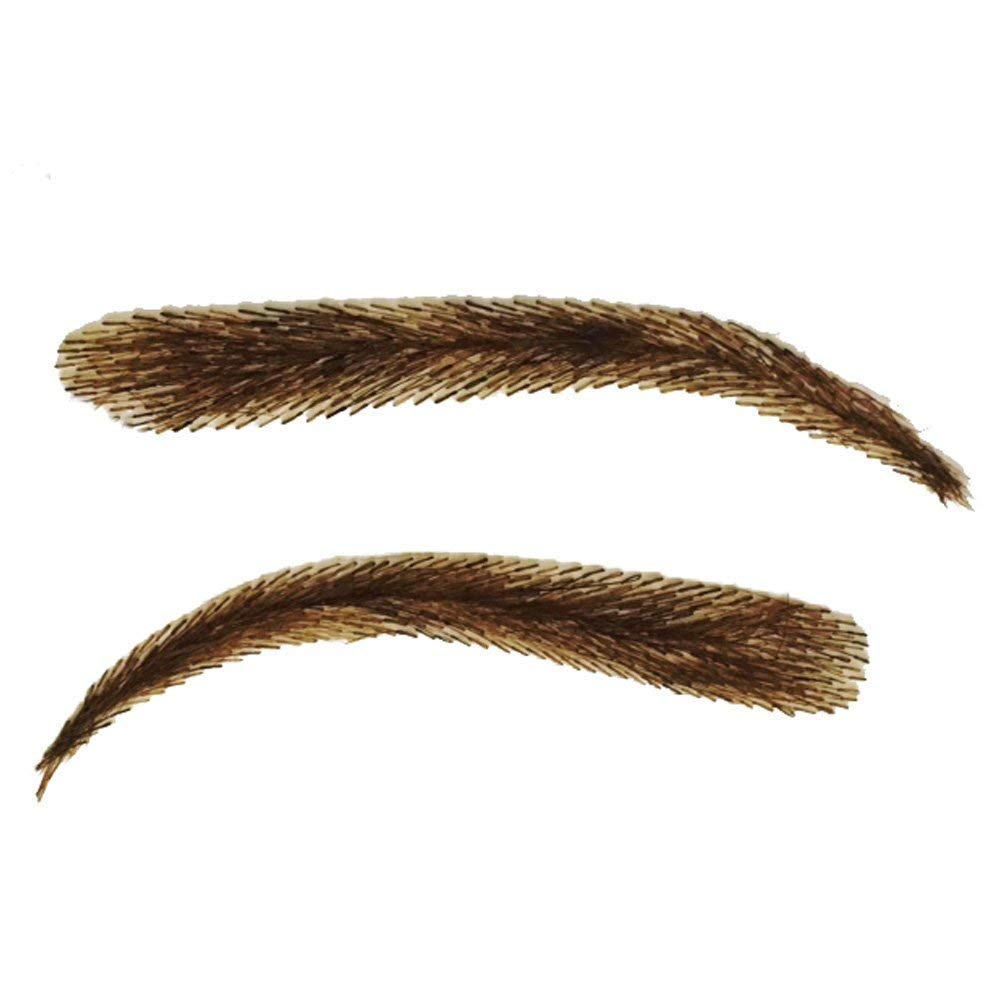 False Eyebrows, Lashybrows 100% Handmade Human Hair Re-Usable [Up to 3 Months] Silicone Base JLo Fake Eyebrows (Ash Blond) INSTABROWS ILBW8