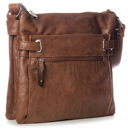 Taupe Medium Multi special Messenger Bags Design Pocket Cross Womens Dark Body SIOwv