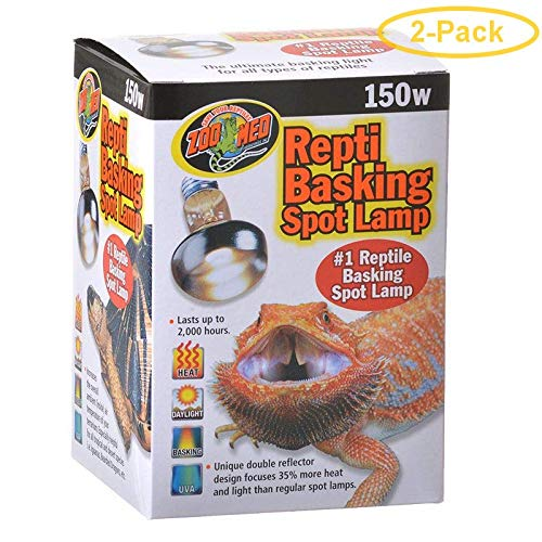 Zoo Med Repti Basking Spot Lamp Replacement Bulb 150 Watts - Pack of 2 by Zoo Med