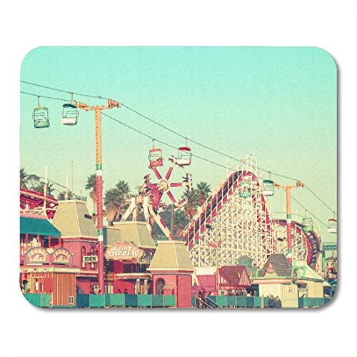 Aikul Mouse Pads Photography Santa Cruz Nostalgia Beach Boardwalk Amusement Park Mouse Mat 9.5