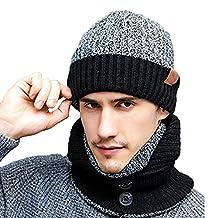 K-mover 3-Pieces Winter Knit Hat Set Warm Beanie Hat + Scarf + Gloves Winter Set