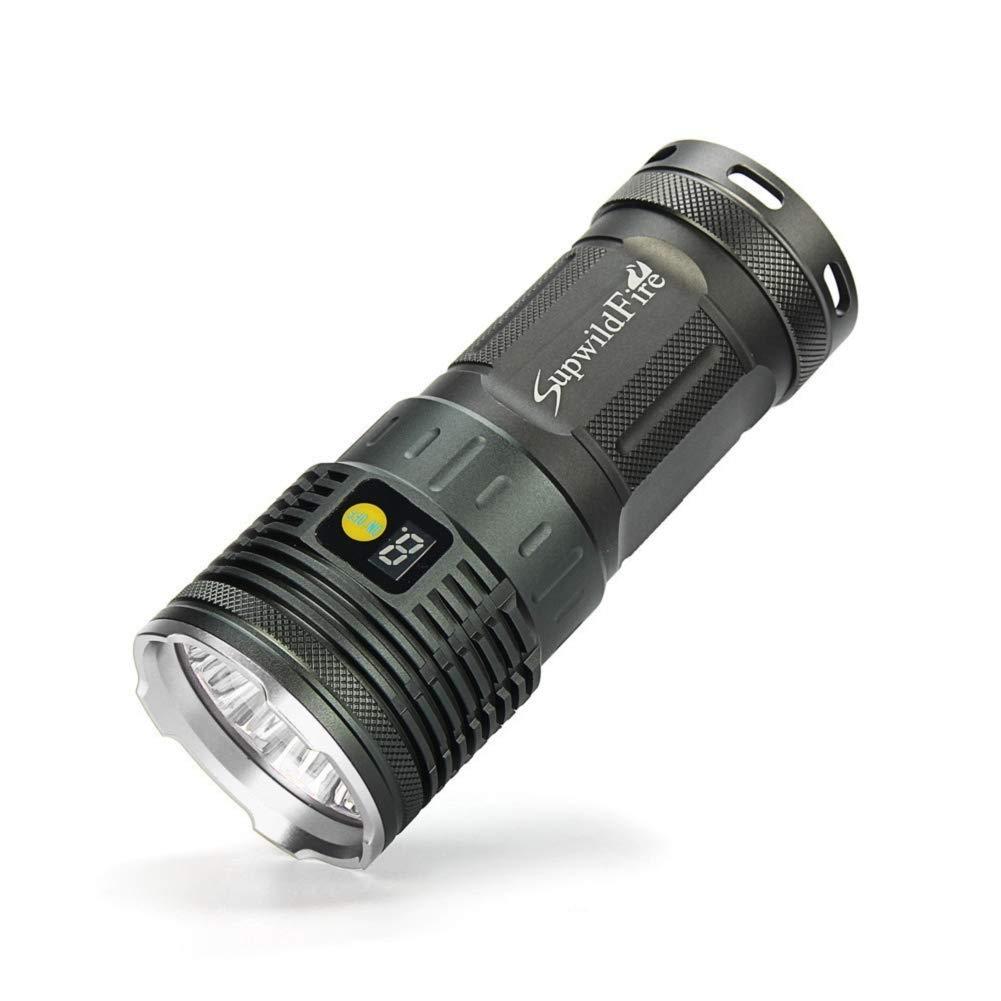Led Tactical Flashlight Torch Led Lantern Flashlight 18 x XM-L T6 LED Power Digital Display Hunting Flashlight by ZXGUS