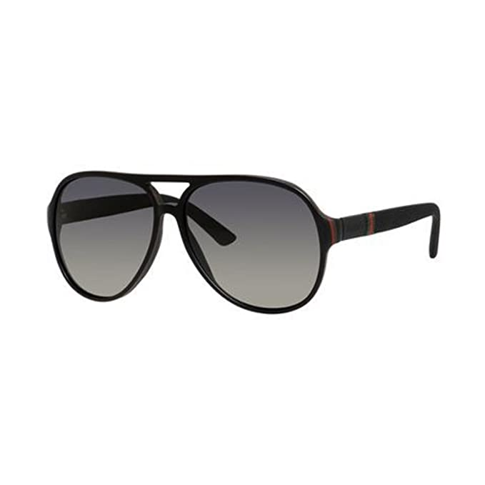 5aa81edf46 Gucci 1065 S Black Red Green Sunglasses - Gray Gradient  Amazon.ca   Clothing   Accessories