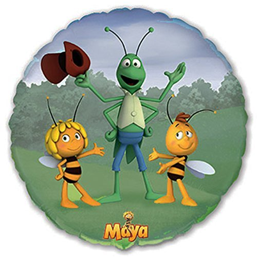 Maya The Bee Party Supplies ([RusToyShop] 1 Psc Metal Inflatable Balloon Bee Maya 45 cm (17.7 inches) for a Holiday Children's Kids Party Party Favor Party Supplies Invitation Deco Russian)