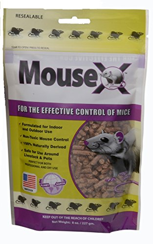 EcoClear Products 620200, MouseX All-Natural Non-Toxic Humane Mouse Killer Pellets, 8 oz. Bag by EcoClear Products