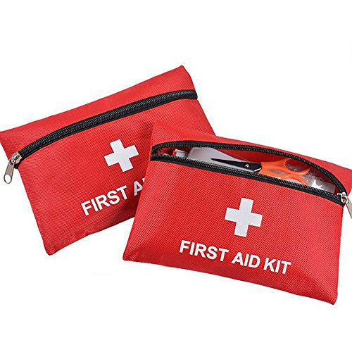 First Aid Kit, 2 Pack Portable Medical Emergency Kit Bag for Car Home Survival Office Travel
