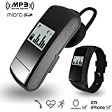 OPTA SB-022 3-in-1 Bluetooth Headset, TF Card & Sports Smart Watch With Heart Rate Monitor & Pedometer For Android/IOS Mobile Phones (Black)
