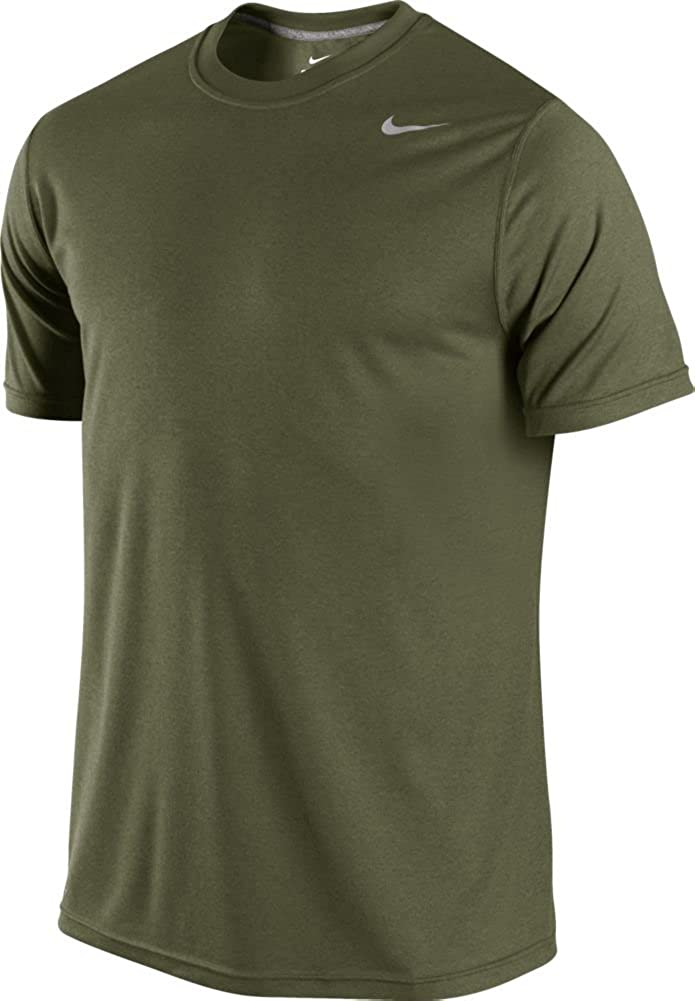 Nike Mens Legend Poly Short Sleeve Top Rough Green//Carbon Heather Small