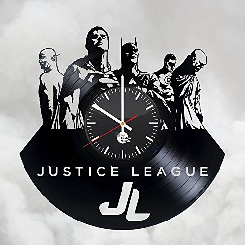 ForLovedGifts Justice League Superheroes Design Vinyl Wall Clock - Handmade Gift for Any Occasion - Unique Birthday, Wedding, Anniversary, Wall décor Ideas for Any Space]()
