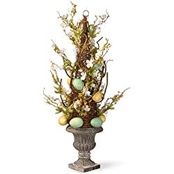 National Tree 27 Inch Potted Tree with Pastel Easter Eggs and Flowers (RAE-15512TS27)