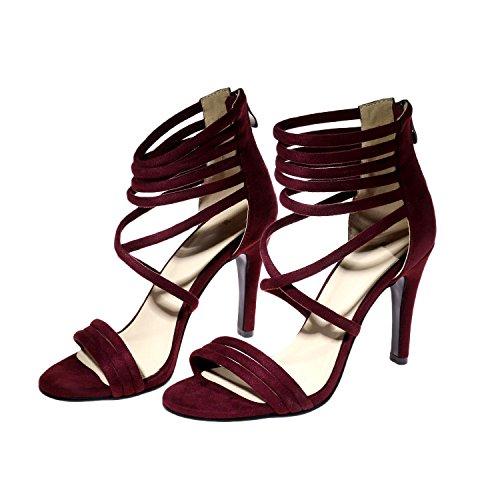amp;1053 mujer OdetinaBJ rojo Moda Para vino 01 2 7qxpwPd
