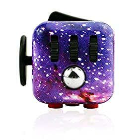 CPEI Anxiety Attention Toy Spinner Fidget Cube for Children and Adults ,Sky