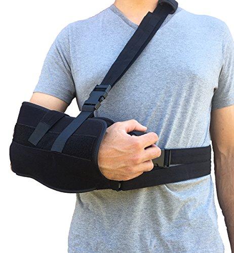 Alpha Medical Arm Sling, Shoulder Immobilizer with Abduction Pillow, Post-Op Shoulder Arm Brace, Universal. by Alpha Medical