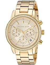 Michael Kors Womens Ritz Gold-Tone Watch MK6356