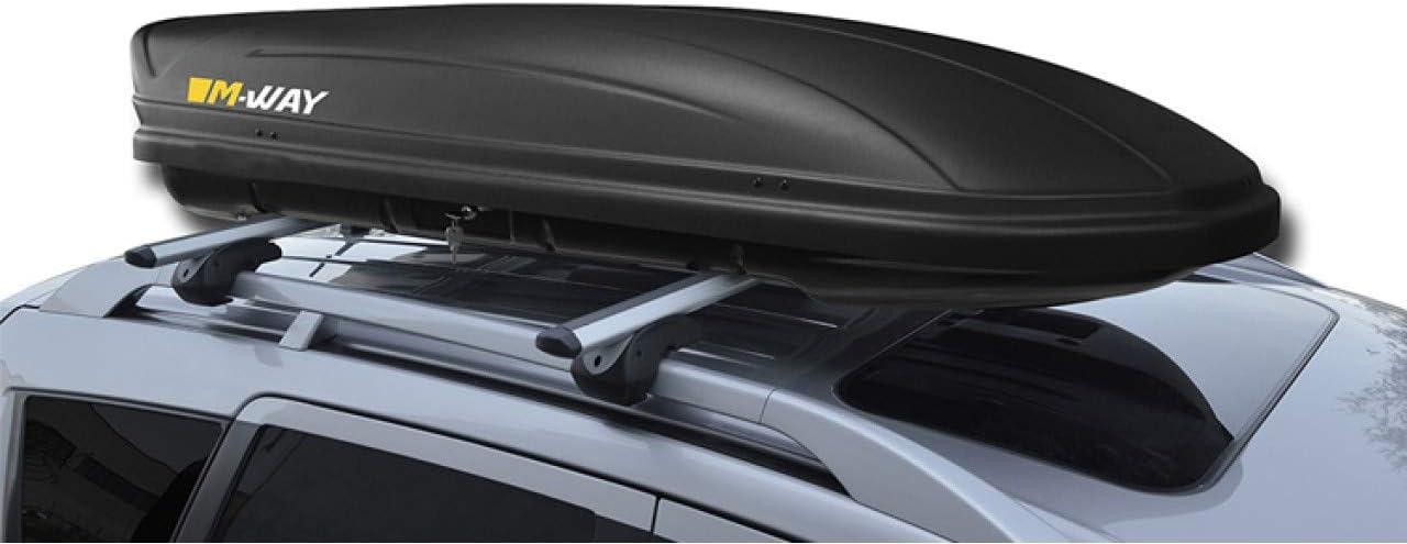 Black MP Essential Menabo M-Way 400L Heavy Duty Car Roof Cargo Transport Travel Storage Box