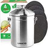 LINKYO Compost Bin - Stainless Steel Kitchen Composter