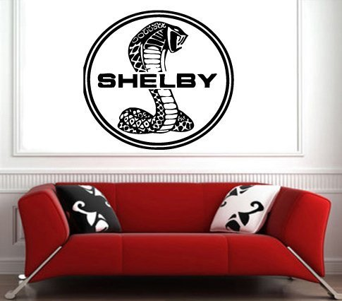 (Shelby Logo Shelby Emblem Ford Mustang GT Wall art Decal Sticker 6014)