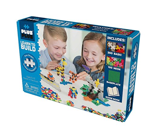 Plus-Plus - Open Play Construction Set - 400 piece - Learn to Build Basic