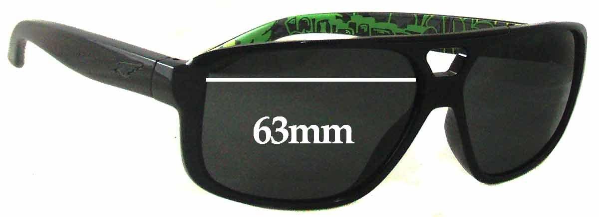 SFX Replacement Sunglass Lenses fits Arnette Fat City AN4189 63mm Wide