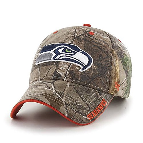 4b154ecaa2c Amazon.com    47 Brand Seattle Seahawks Realteree Frost Camo Hat -  Adjustable   Sports   Outdoors