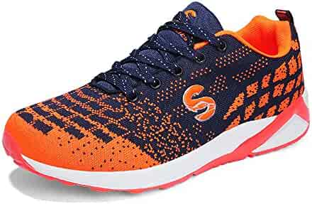 reputable site e4c81 d150b Mens Womens Casual Sneakers Breathable Athletic Walking Running Shoes