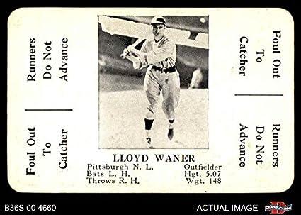 Amazoncom 1936 Ss Game Lloyd Waner Baseball Card Deans
