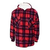 Bruno Galli, Mens Lumberjack Check Work Fleece Jacket