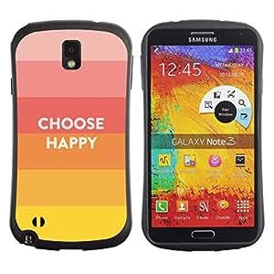 Suave TPU GEL Carcasa Funda Silicona Blando Estuche Caso de protección (para) Samsung Note 3 / CECELL Phone case / / Choose Happy Slogan Quote Hippie Positive /
