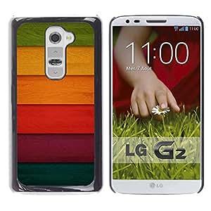 Be Good Phone Accessory // Dura Cáscara cubierta Protectora Caso Carcasa Funda de Protección para LG G2 D800 D802 D802TA D803 VS980 LS980 // Colorful Colored Wood