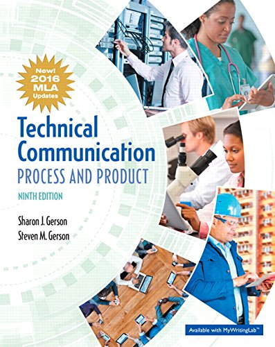 Pdf Reference Technical Communication: Process and Product, MLA Update (9th Edition)