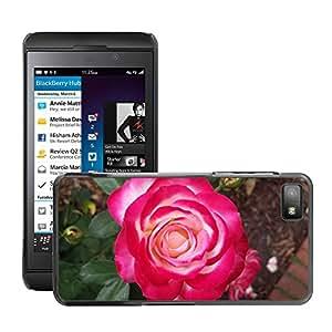 Etui Housse Coque de Protection Cover Rigide pour // M00151490 Flores Rosas Rosa floral de la // BlackBerry Z10