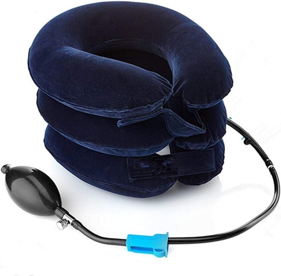 Aparato de tracción cervical, de Amazing Mall, producto registrado en la FDA, almohada de cuello hinchable y ajustable para el hogar, para alinear la columna vertebral