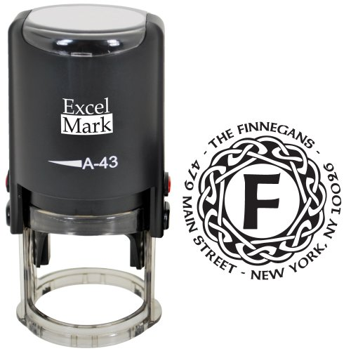 (Custom Self Inking Address Stamp with Monogram - Style 198)