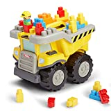 Tonka 25-Piece Mighty Builders Play, Pull & Store Construction Dump Truck, Fun And Colorful Building Blocks Set For Children