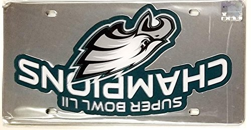 Stockdale Philadelphia Eagles Super Bowl Champions Logo 23250 Premium Laser Tag Acrylic Cut Inlaid License Plate Football ()