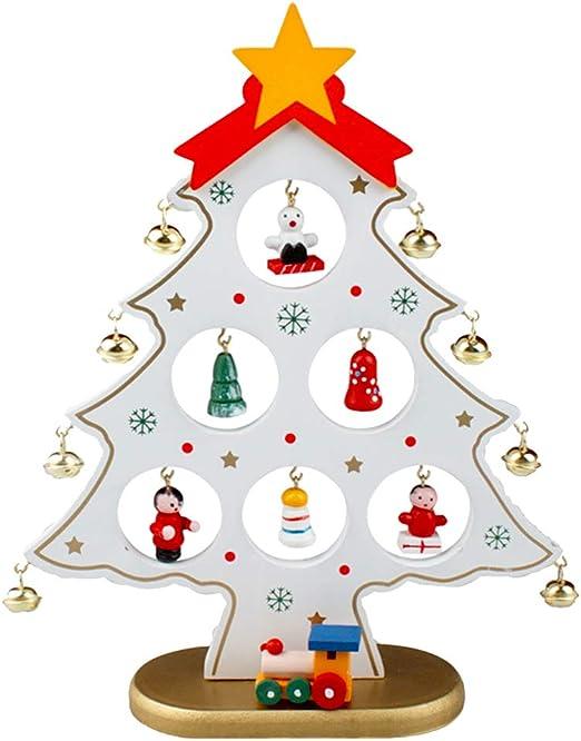 Home Decor Christmas Decoration Mini Desktop Xmas Tree Wooden Ornaments