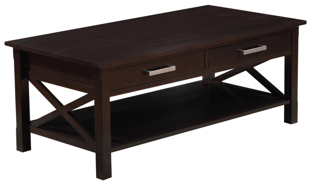 Simpli home kitchener coffee table dark for Coffee tables amazon