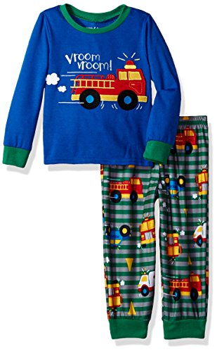 972e319410 Peas   Carrots Boys  Toddler 2 Piece Soft Knit Flannel Pajama Set ...